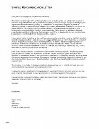 Letter Of Recommendation Elegant Letters Of Recommendation For High