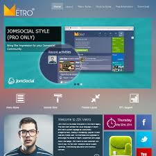 Metro Template Download Free Jsn Metro Joomla Template For Jomsocial