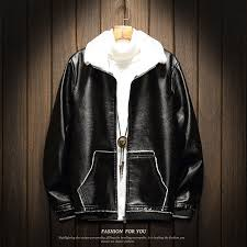 whole 2018 fashion winter leather jacket mens fleece thicken warm leather jacket for men casual solid fur coat men plus size 3xl 4xl worldwide