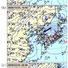 Weather Chart During The Swell Like Wave Events A 00 00