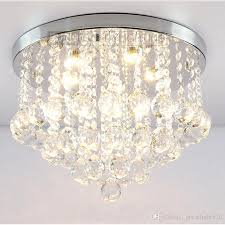 crystal ceiling lamp round k9 crystal ceiling light droplights silver chrome ceiling pendant light chandelier fitting