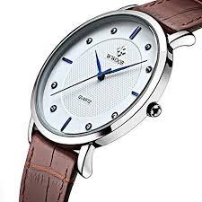 thin watches amazon com tonnier super slim quartz casual wristwatch business brown genuine leather analog men s watch