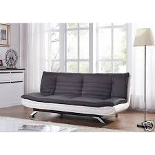 3 seater egg grey or charcoal fabric and faux leather sofa bed home done