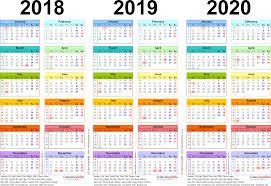Printable 3 Year Calendar 2019 To 2021 Printable Calendar 2020