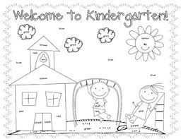 Small Picture First Day Coloring Worksheet Kindergarten Christine Statzel