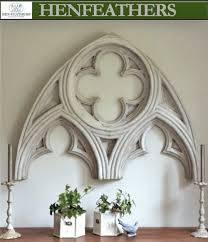 gothic architectural arch wall decor