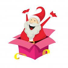 Surprise Images Free Cute Santa Claus Character Surprise Vector Free Download