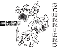 Small Picture Scurriers Coloring Page Printable Sheet LEGO Nexo Knights