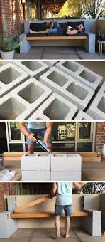 concrete block furniture ideas. Make Your Own Inexpensive Outdoor Furniture With This DIY Concrete Block Bench Ideas C