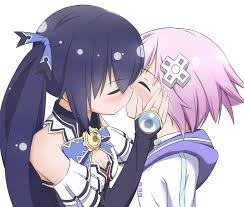 The promised happily ever after (true end). Nepnoire Kiss Hyperdimension Neptunia Wholesomeyuri