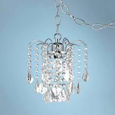 plug in swag chandelier lights dining room amazing plug in chandelier crystal and acrylic swag plug