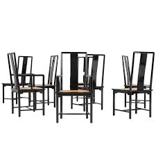italian lacquer dining room furniture. Set Of Eight Italian Lacquered Dining Chairs, 1970s Lacquer Room Furniture