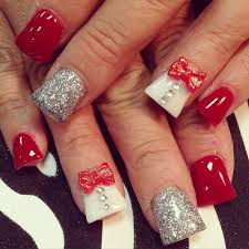 50+ Cute Bow Nail Designs | The white, Nail design and Acrylic ...