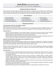 Sweetlooking Director Of Security Resume Examples Astounding Sample
