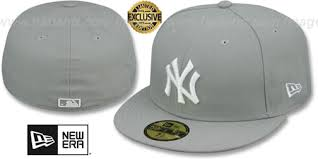 Zhats Size Chart Yankees Team Basic Light Grey White Fitted Hats By New Era