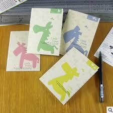 1 piece new hot lovely horse cartoon mini notebook cute notepad diary book stationery creative notepad