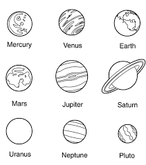 Pictures Of Each Planet In The Solar System Coloring Pages Images