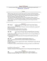 resume template example resume sample 10 resume cv my perfect ...