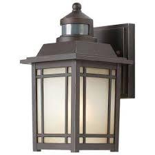 port oxford 1 light oil rubbed chestnut outdoor motion sensor wall lantern sconce