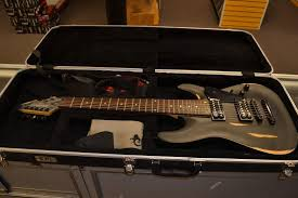 schecter diamond series electric schecter diamond series omen 7 7 string guitar w schecter hard shell case