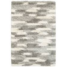 5 x 8 medium geometric gray and ivory area rug henderson