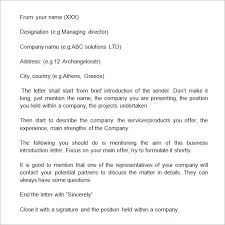13 Sample Business Introduction Letters Pdf Doc Sample Templates