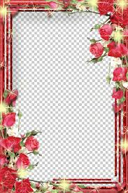 Floral Borders For Word Frames Microsoft Word Photo Frame Png Clipart Free