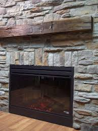 wood mantels replace with reclaimed wood mantel stone veneer fireplacefaux
