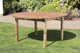 uk handmade fully assembled heavy duty wooden garden round table 150cm 6 seater garden table