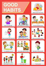 Paper Plane Design Good Habits Educational Charts For Kids Home And School Paper A3 Multicolour