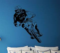 gee atherton wall art sticker downhill mountain bikes uci cyclist decal vinyl mural sport decor on downhill mountain bike wall art with gee atherton wall art sticker downhill mountain bikes uci cyclist