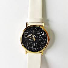 albert einstein watch mens watch women watches leather watch wrist watch science jewelry gift science teacher math physics e mc2
