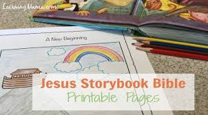 Jesus Storybook Bible Devotional Pages Printable Learning Mama