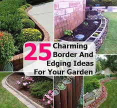 Small Picture Garden Border Edging Ideas Garden Design Ideas