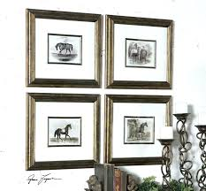 decor set 4 wall art mirrors paintings and tapestries