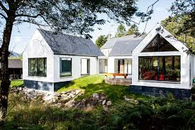 a self built single y house in the scottish highlands