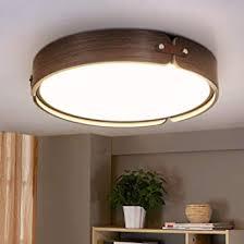Sowohl klassische halogenleuchten als auch moderne leds mit einer lichtfarbe von 2700 bis 3000 kelvin eignen sich hervorragend dafür, ihr wohnzimmer in einen ort der ruhe. Zmh Led Deckenleuchte Wohnzimmer Deckenlampe Schlafzimmer Wohnzimmerlampe Aus Holz Rund O42cm 4000k Neutralweiss 26w Badezimmer Kinderzimmer Amazon De Beleuchtung