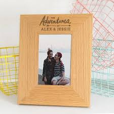 personalised wooden photo frame for