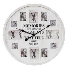 memories photo frame wall clock the