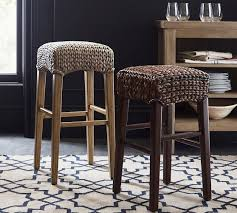 seagrass backless bar counter stool