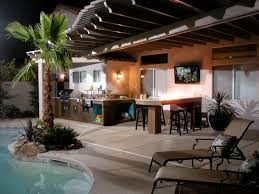 Backyard Designs With Pool And Outdoor Kitchen Adorable 48 Gorgeous Outdoor Kitchens HGTV's Decorating Design Blog HGTV
