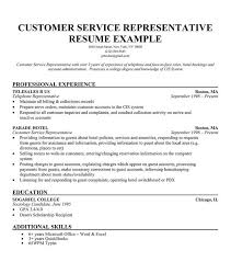 Customer Service Representative Resume Template Customer Service