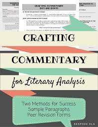 best literary essay ideas opinion essay teaching students how to write commentary for the literary analysis essay
