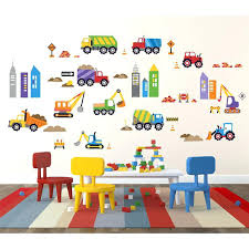 kids playroom decals bedroom amusing boys wall decor playroom wall decals truck build amusing boys wall