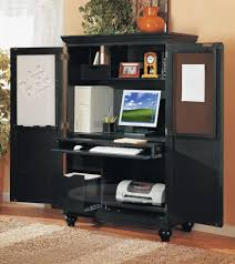 office desk armoire. Wonderful Desk Home Office Armoire Brown L Shaped Desk With Hutch Plus Drawer Inside