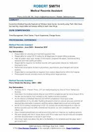 Medical Records Assistant Resume Samples Qwikresume