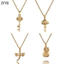 <b>ZFVB</b> Classic Gold color Dragonfly <b>Pendants Necklaces</b> for Women ...
