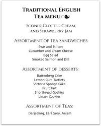 Party Menu Hosting A Tea Party Look Through Our Tea Party Menus For