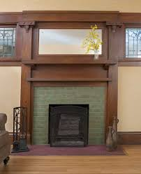 clay squared tiled fireplace surround lovely woodwork too