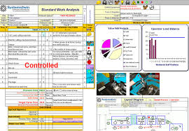 Standard Work Chart Example Work Instructions Lean Six Sigma Training Guide Copy